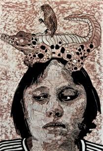 LOS CRIOLLOS, Xilografia, 100cm x 70cm, 2010