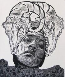 SEÑORA MATANZA II , Xilografia, 120cm x 100cm, 2012
