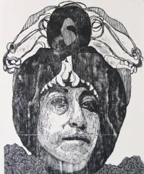 señoramatanzaVI-xilografia-120cm x 100cm-2012