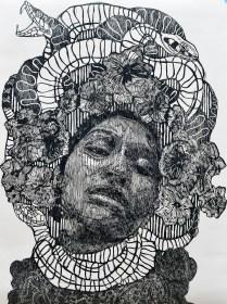trinidad, xilografia, 140cm x 100cm, 2014