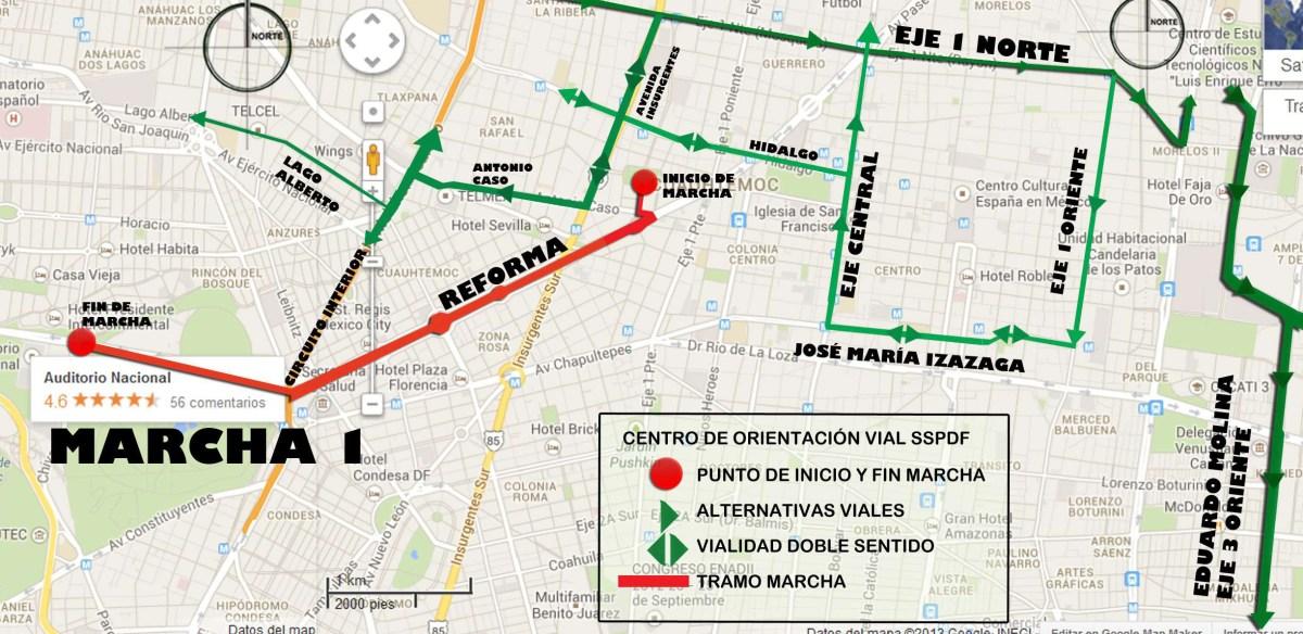 Marchas y concentraciones para hoy lunes 20 de mayo en la CDMX
