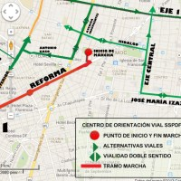 Marchas y concentraciones para hoy lunes 14 de octubre en la CDMX