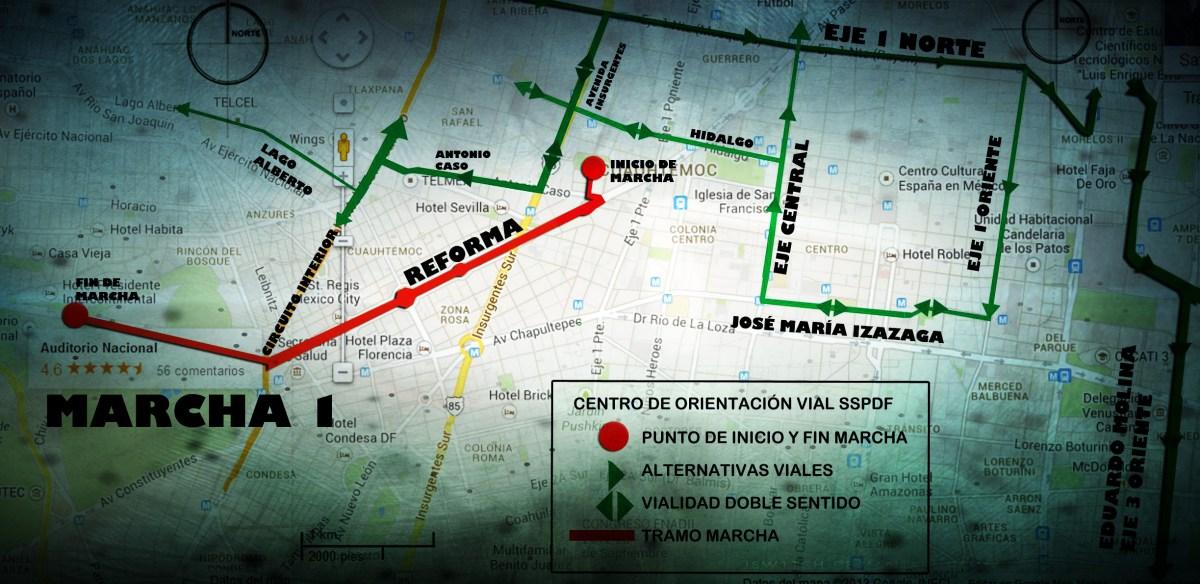 #Marchas y concentraciones para hoy miércoles 16 de enero en la CDMX