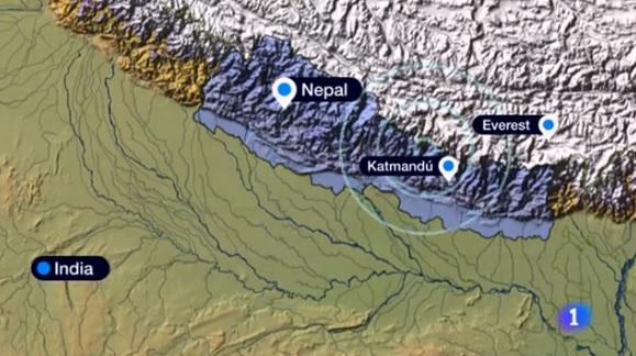 mapa sismo nepal