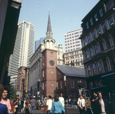 Boston City Beginn des Freedomtrail 1988