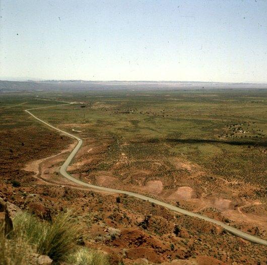 Badlands östl. Monument Valley 1986