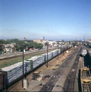 chicago-vorort-früher zulieferung getreide