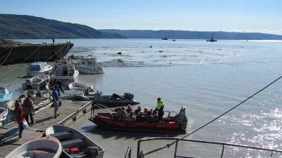 groenland-Zubringerboote zur Fram 2007