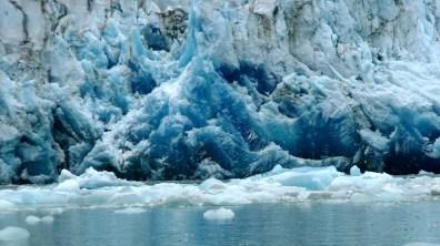 Grönland stark komprimiertes blaues Eis 2007