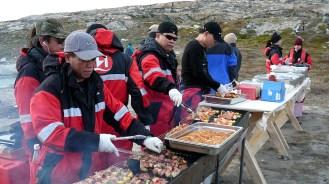 Grönland letztes Picknick im Freien 2007