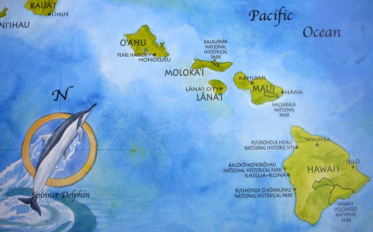hawaii-Übersichtskarte 001