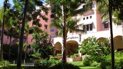 hawaii-Innenhof eines Ferienresorts 010