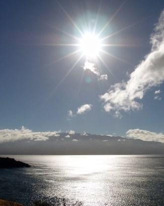 hawaii-Sonne über der Insel-090