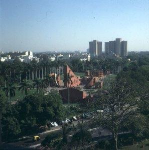 Indien-Delhi-Hotelblick Astronomiepark 1999