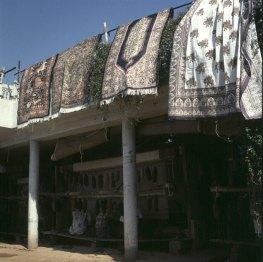 Indien-Fatehpur-Teppichladen 1999