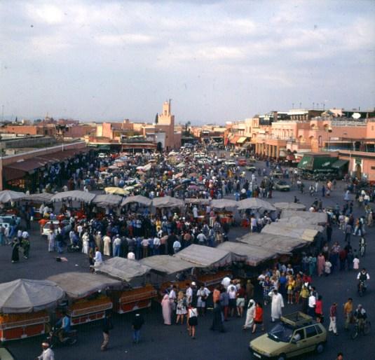 Marokko-Marrakesch-Place Djemna-elFna 1995