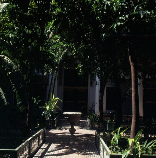 Marokko-Marrakesch-Bahiapalastgarten 1995
