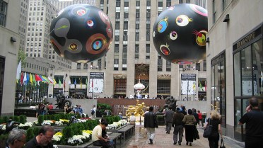 new-york-Innenhofdekoration im Rockefellercenter 2003