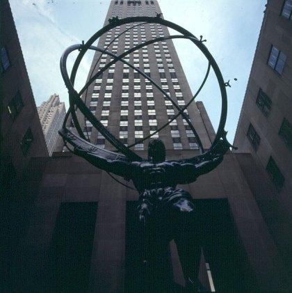 new-york-Bombastischer Blickwinkel aud Rockefellercenter 1994