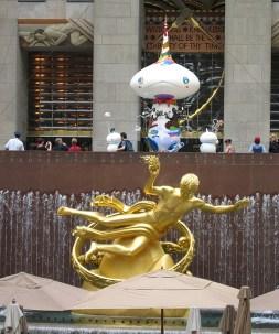 new-york-Prometheus im Rockefellercenter Hof