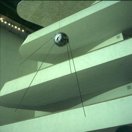 new-york-Sputnik-Kopie im UN Gebäude 1983