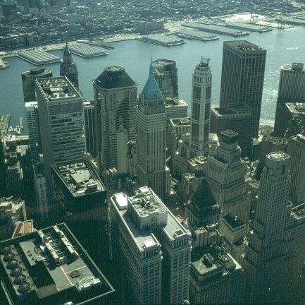 new-york-Blick vom WTC auf Wallstreetviertel 1983