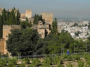 Alhambra-Blick von Generalifen