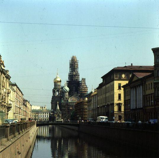 Leningrad-Blutkirche in Renovierung 1988