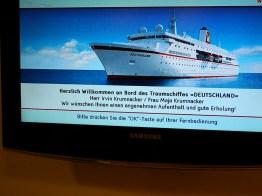 Traumschiff Begrüßung in Kabine 2012