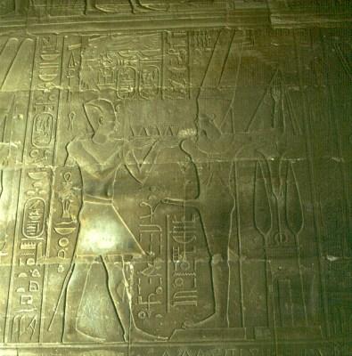 Luxortempel -Allerheiligstes Aalexander vor Amun