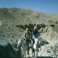 Tal der Könige Tahib und Gerda 1980
