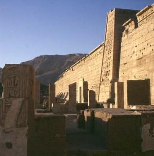 Totentempel-Medinet Habu Westwand
