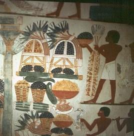 Edle-Grab des Nacht- Opfergaben