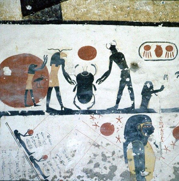 Tal der Könige RamsesIX Niedergang der Malkunst