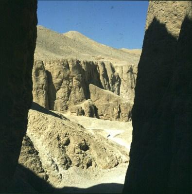 Tal der Könige Grab TutmosisIV Ausblick