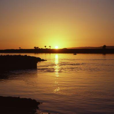 Ägypten Nil Sonnenuntergang