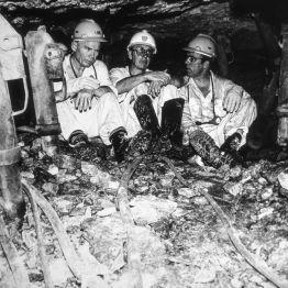 Südafrika Goldmine unter Tage 1980