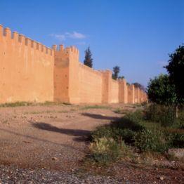 Marokko Marrakesch Stadtmauer 1995