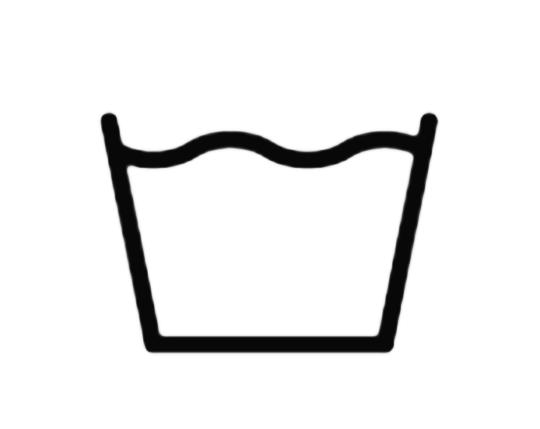 Simbolo lavaggio in acqua