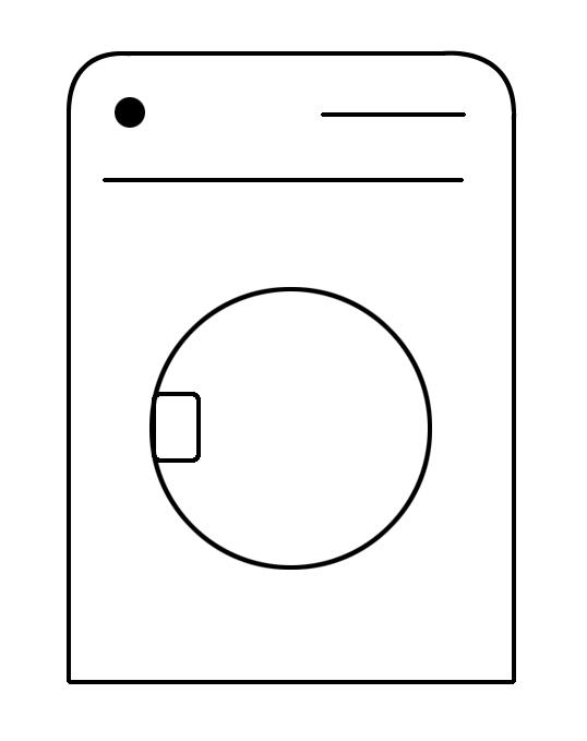 Simbolo macchina per il lavaggio o l'asciugatura dei tessili