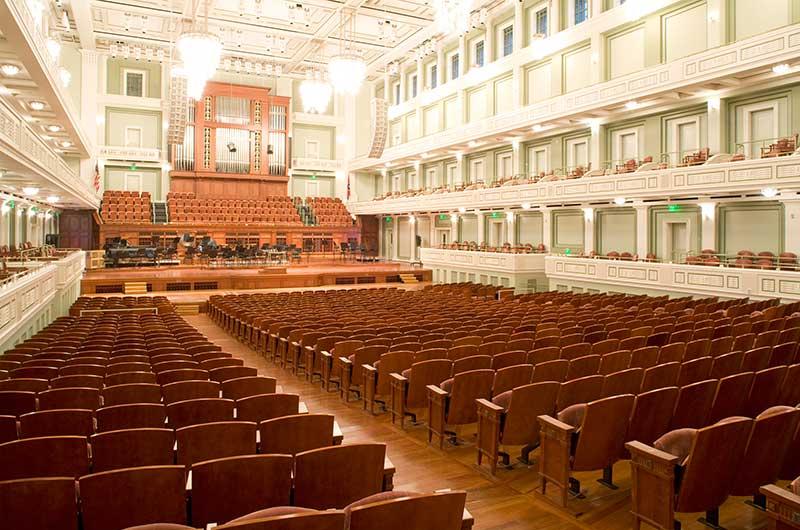 Schermerhorn Symphony Center with custom Allegro chairs