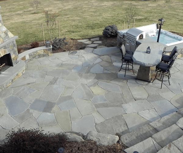 flagstone on concrete base irwin stone