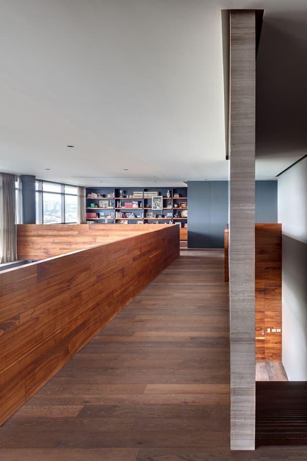 P1 moderno apartamento con saln a doble altura