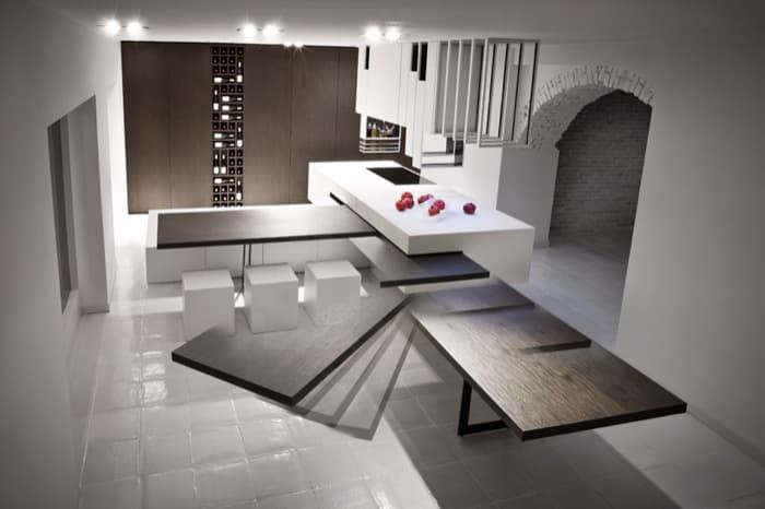 The CUT isla de cocina minimalista configurable segn