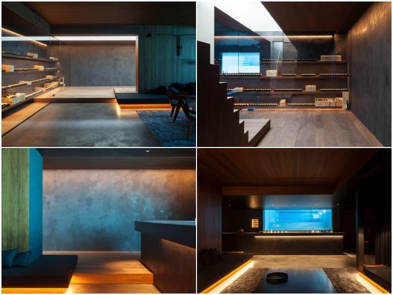 Moderna vivienda de hormign vidrio y acero Residencia VDB