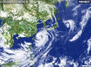 台風8号 気象衛星写真