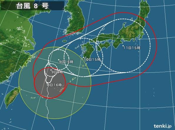 台風 それ る