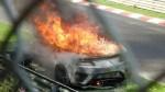 ホンダ次期NSXがニュルブルクリンクでのテスト中に炎上