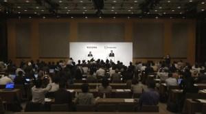 トヨタとマツダ・業務提携に関する共同記者発表会