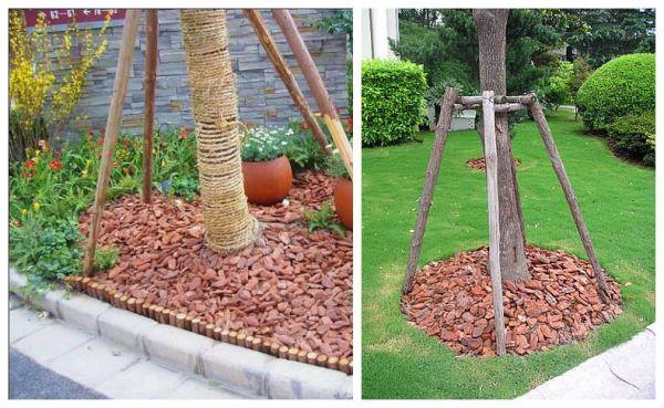 garden mulch pine bark nuggets